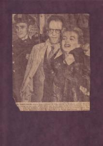 Vintage Newspaper Clipping of Actress Marilyn Monroe and Arthur Miller