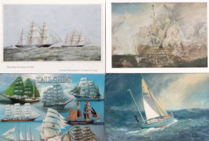 The Lone Sailor Painting Tall Ships 4x Sailing Boat Postcard s