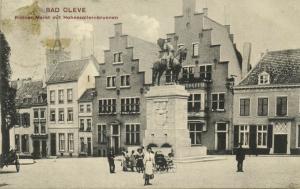 germany, KLEVE CLEVE, Kleiner Markt mit Hohenzollernbrunnen (1907) Stamp