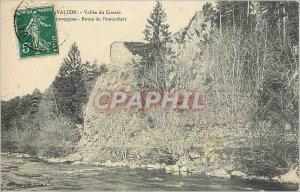 Old Postcard Avallon Vallee du Cousin Scenic Road Pontaubert