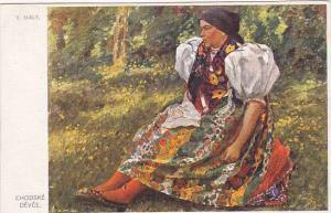 Czech Republic : Portrait village girl , 00-10s #3