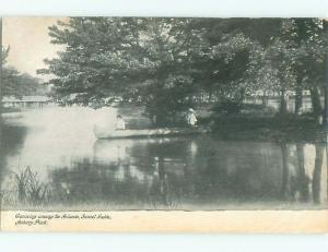 Pre-1907 LAKE SCENE Asbury Park New Jersey NJ AE5367