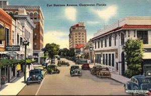 Florida Clearwater Fort Harrison Avenue 1948