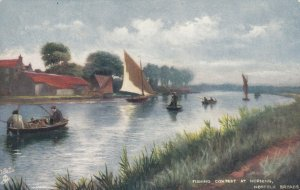 NORFOLK BROADS , England , 00-10; Fishing contest at HORNING ; TUCK 6486