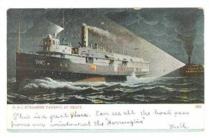 Steamer/Ship, D. & C. Steamers Passing At Night, PU-1907