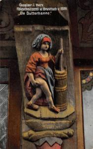 Goslar im Harz Holzschnitzerei a Brusttuch Die Butterhanne