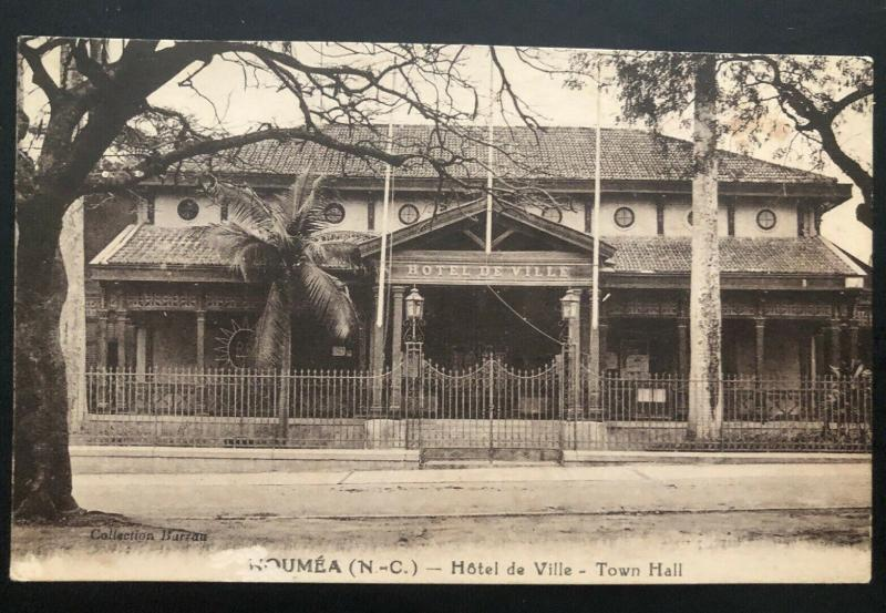 Mint Noumea New Caledonia Real Picture Postcard RPPC Town Hall View