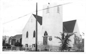 Meadow Lake Canada Grace United Church Real Photo Vintage Postcard JI657228