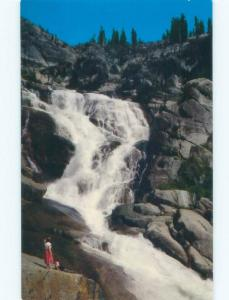 Pre-1980 WATERFALL Sequoia National Park - Visalia & Fresno & Tulare CA E4190