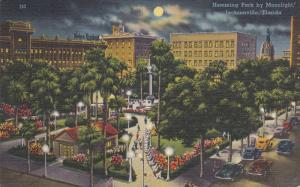 JACKSONVILLE, Florida; Hemming Park by Moonlight, PU-1956