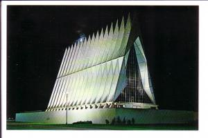 Cadet Chapel at Night, US Air Force Academy, Colorado Springs, Colorado, G R...