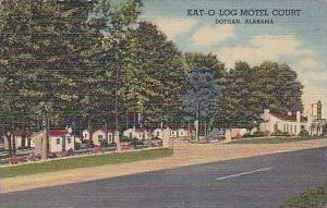 Alabama Dothan Kat O Log Motel Court Curteich