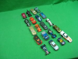 Vintage Lot of Twenty (20) Toy Cars Hotwheels Various Colors & Styles Flames