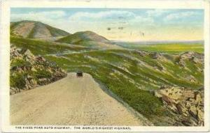 The Pikes Auto Highway, The World's Highest Highway, Colorado Springs, Colora...
