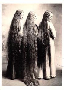 Three Women, Long Hair -