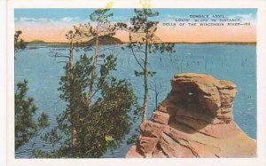 Wisconsin Wisconsin River Demons Anvil Louis Bluff In Distance Dells Of the W...
