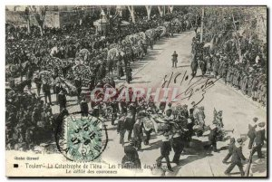Old Postcard Boat War Catastrophe Toulon L Jena The Funerals of the victims o...