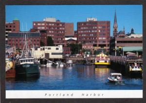 ME View Oldport Harbor  PORTLAND Harbor MAINE Postcard