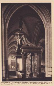 Eglise Saint Germain L'Auxerrois, Banc-D'Ceuvre De La Famille Royale, Paris, ...