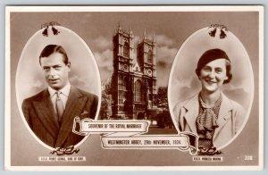 Royalty~England: Prince George~Marina of Greece~Future Duchess of Kent~1934 RPPC