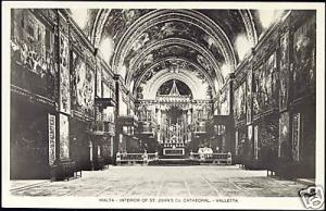 malta, VALLETTA, St. John's Cathedral Interior 50s RPPC