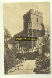 cu0557 - Kingston Church , Kent - postcard