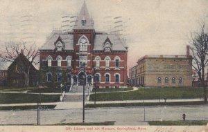 SPRINGFIELD, Massachusetts, PU-1907; City Library and Art Museum