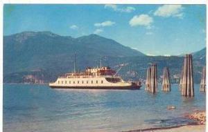 Ferry Boat M.V. Anscomb, Kootenay Lake, B.C., Canada, 40-50s