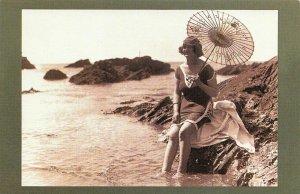 Nostalgia Postcard July 1921 Bathing Fashion at Plymouth Reproduction Card NS3