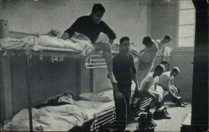 Melbourne Australia Fire Fighters Bunk Beds c1910 Postcard