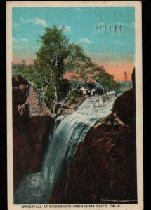 Chico CA Waterfall Richardson Springs California Postcard B06