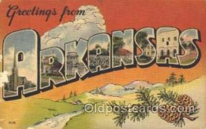 Arkansas, USA Large Letter State States Postcard Postcards  Arkansas, USA