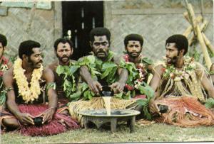 fiji islands, Ceremony of Preparation the Yaqona (1980) Stamp