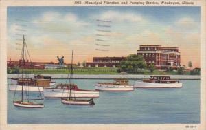 Illinois Waukegan Municipal Filtration and Pumping Station 1942 Curteich
