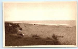 Sandwich Beach Looking East Sandwich Bay Kent UK Vintage Postcard D02