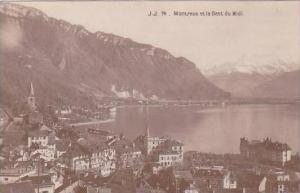 Switzerland Montreux et la Dent du Midi