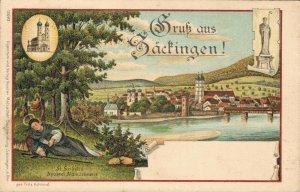 Germany Gruss aus Säckingen Litho 03.41