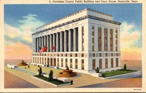 Tennessee Nashville Davidson County Public Building and Court House 1946 Curt...