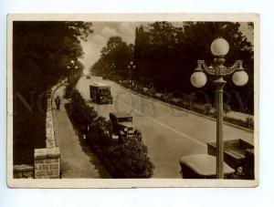 250352 USSR Sochi Stalin avenue BUSES photo Helmer 1937 year