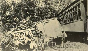 Panama - Panama Canal, Panama Railroad Train Derailment, 1895  (Reprint in 19...