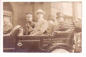 Real Photo, President Taft, Major Edgerton, Rochester, New York August 23, 19...