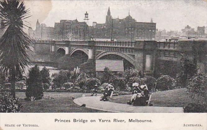 Australia Melbourne Princes Bridge On The Yarra River