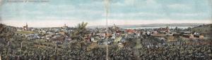 Hermann Missouri Birds Eye View Bi-Fold Vintage Postcard J926333