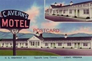 CAVERNS MOTEL U.S Highway 211 west of LURAY, VA. Mr and Mrs A M Modisett, Owners