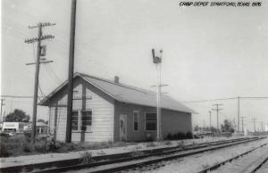 Stratford Texas Depot Train Station Real Photo Antique Postcard J72174