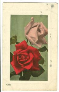 Roses, 1917 used Postcard