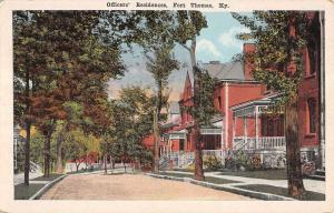 Fort Thomas Kentucky Officers Residence Street View Antique Postcard K12265