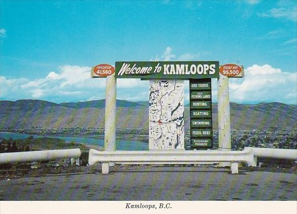 Canada Welcome Sign Kamloops British Columbia