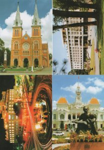 Hochiminh City Vietnam Night Illuminations 4x Postcard s