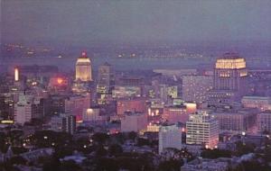 Canada Night View Of Skyline Quebec